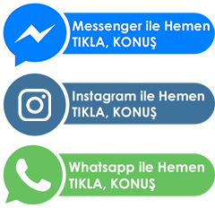 Messenger, Instagram ya da WhatsApp üzerinden iletişime geçmek için hemen tıkla!